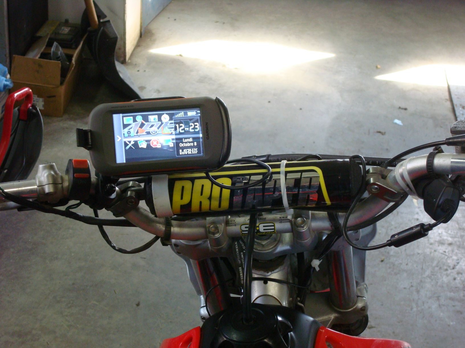 GPS Montana 650 on Honda CRF150 Gallery Article